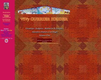 Atelier de Vivy Currier Heider, Artiste en Céramique, Sculpture, Fresque, en Provence