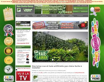 Brise vue et gazon artificiel d'Euro Castor Green