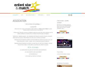enfant star et match associatino caritative enfants hospitalisés