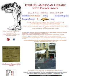 English American Library in Nice