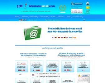 Fichiers d'adresses E-mail de qualité avec garantie