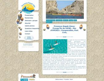 Kayak de mer à la presqu'île de Giens