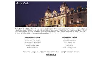 Le site officiel des Casinos de Monte-Carlo