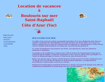 Location de vacances à Boulouris sur mer Saint-Raphaël Côte d'Azur (Var)