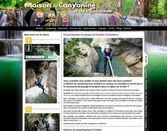 Maison du canyoning et de l'escalade dans le verdon