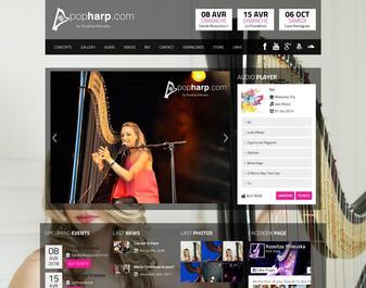 POP HARP Site Harpiste Chanteuse Pianiste Niçoise Milevska Rossitza